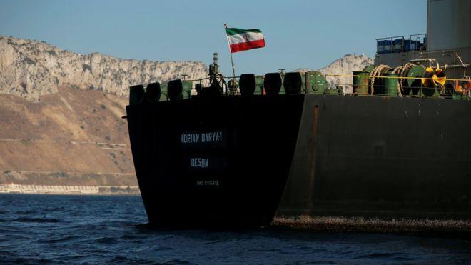نفتکش گریس ۱ به مقصد جنوب یونان، جبلالطارق را ترک کرد