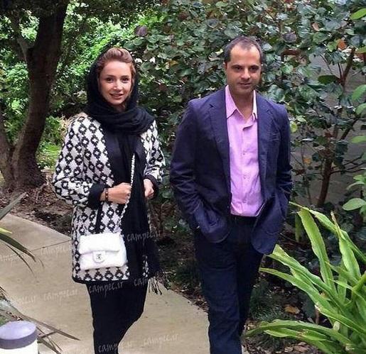 شبنم قلی خانی به همراه همسرش