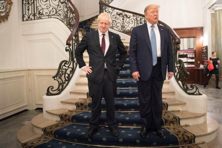 تصاویر/ دیدار جانسون و ترامپ در فرانسه