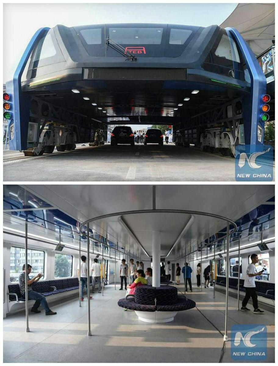 اتوبوس چینی با گنجایش ۱۲۰۰ مسافر+ عکس
