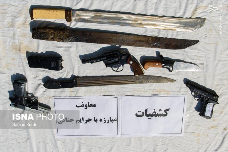 سلاح های کشف شده از سارقان تهران+عکس