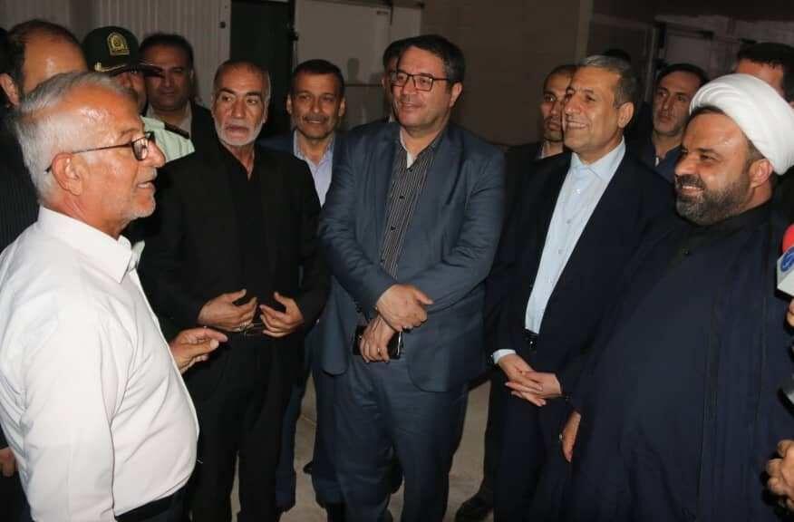 وزیر صنعت، معدن و تجارت از یک واحد صنعتی در گناوه بازدید کرد