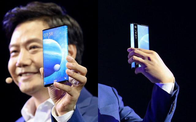 اولین گوشی دنیا با نمایشگر 180 درجه و دوربین 108 مگاپیکسلی!+تصاویر