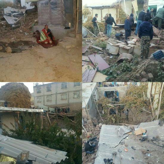 تصاویری از خسارت زلزله در ترکمانچای