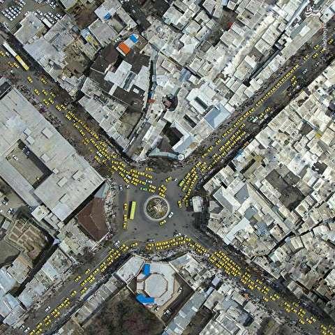 وضعیت تاریک «کار» در یک عکس هوایی از سنندج!