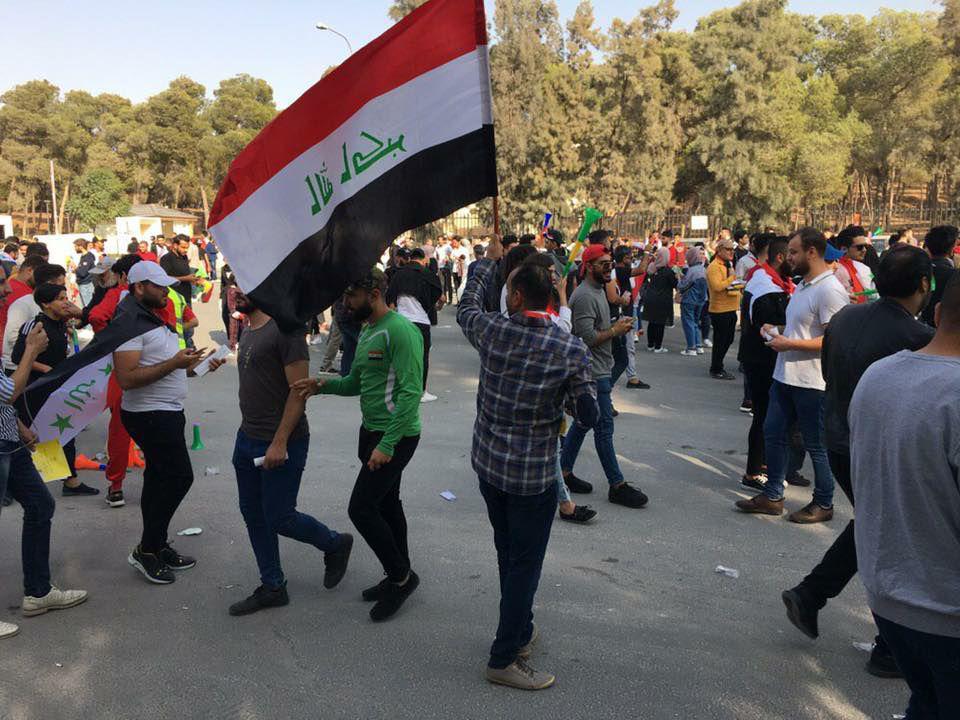 هواداران عراقی آماده بازی با ایران+عکس