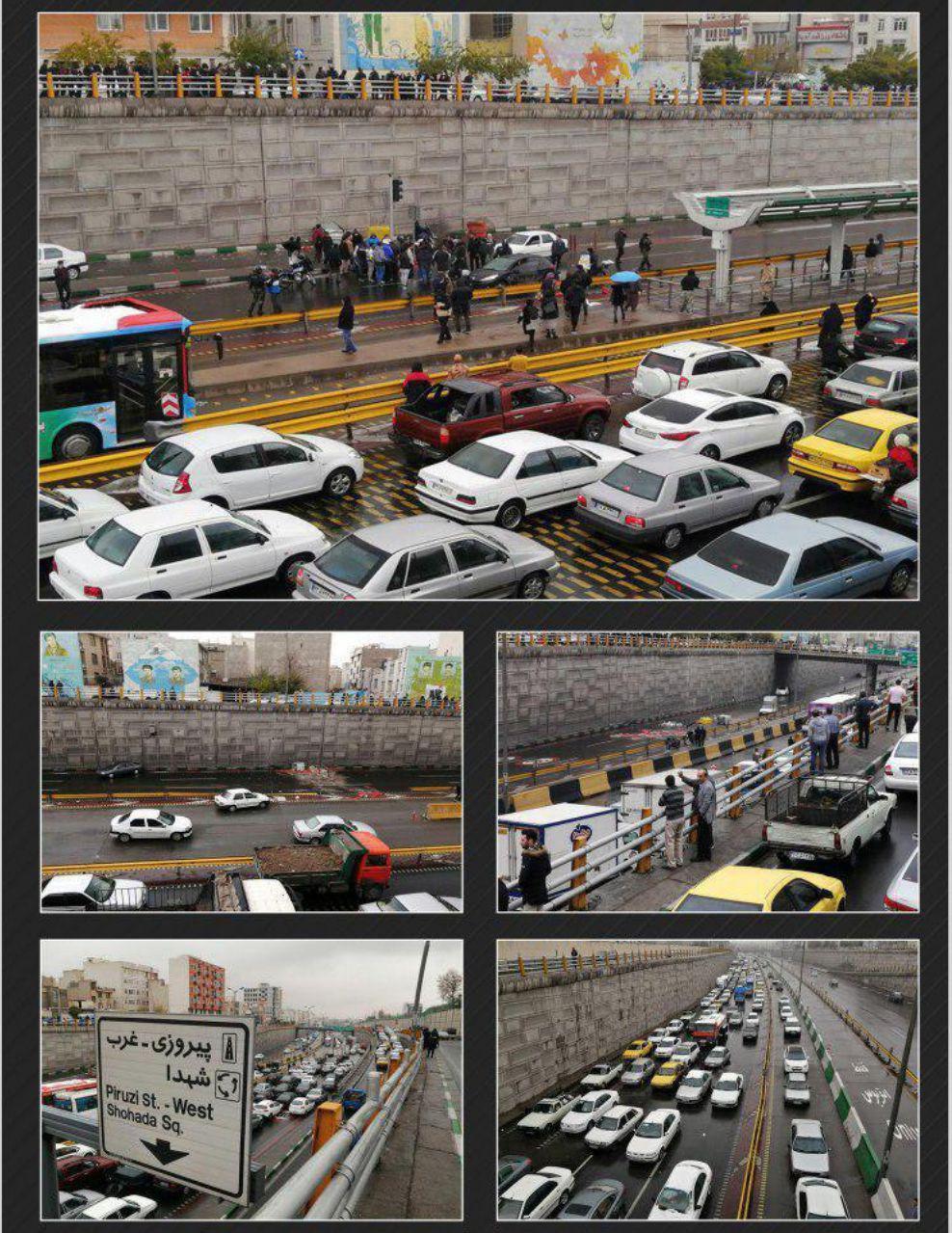 ترافیک چندصدمتری در بزرگراه امام علی +عکس