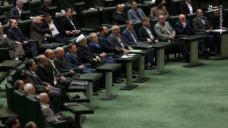 وزرایی که با روحانی به مجلس رفتند +عکس