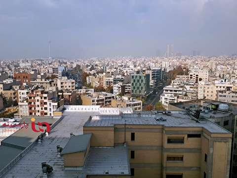 وضعیت آلودگی هوای تهران از ارتفاع