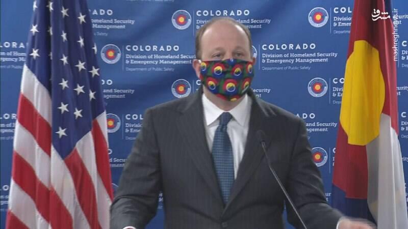 فرماندار آمریکایی با ماسک خانگی +عکس