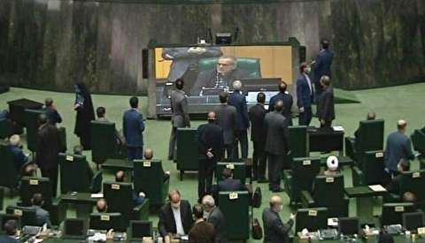 عکس|رعایت نکردن طرح فاصله گذاری اجتماعی در مجلس!