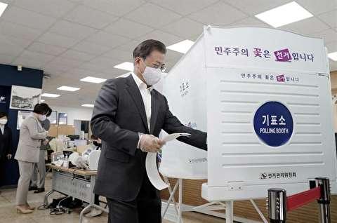 اجرای انتخابات پارلمانی در کره جنوبی با وجود کرونا