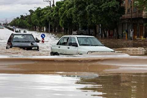 کرمان در آب باران غرق شد
