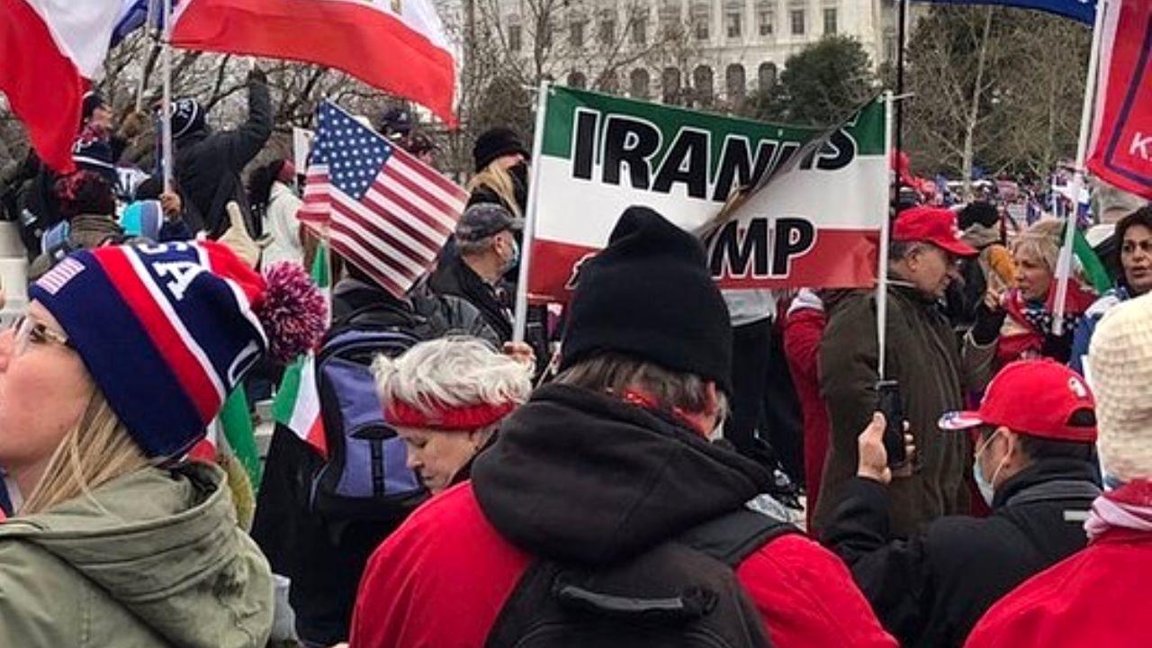 طرفداران ایرانی ترامپ در مقابل کنگره آمریکا + عکس