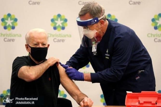 بایدن برای بار دوم واکسن کرونا زد+عکس