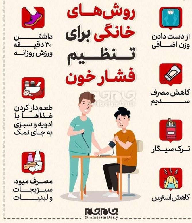 روشهای خانگی برای تنظیم فشار خون