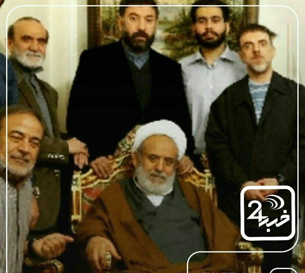 مرحوم علی انصاریان در کنار عمویش شیخ حسین انصاریان + عکس