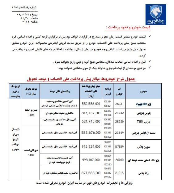 ایرانخودرو با پیشفروش ۷ محصول + جزئیات