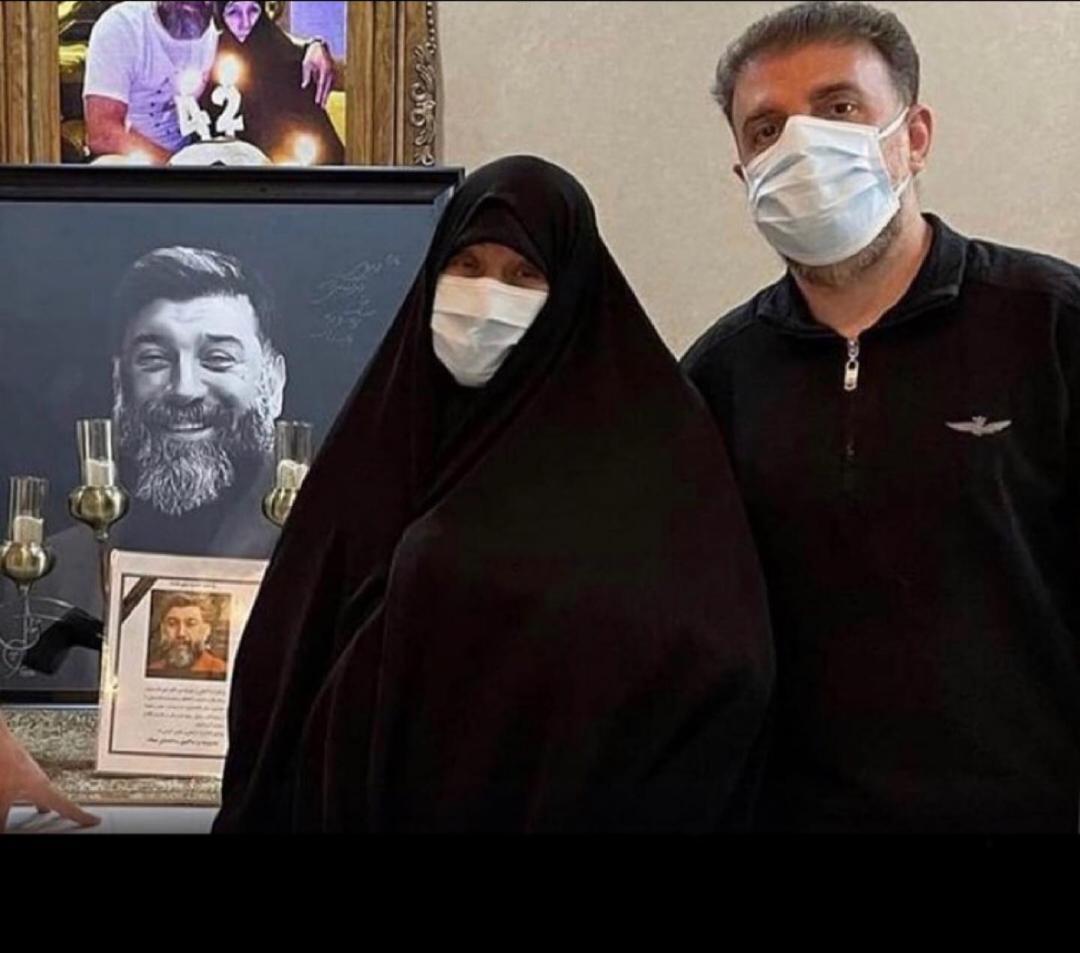 اولین عکس از مادر علی انصاریان پس از مرگ او