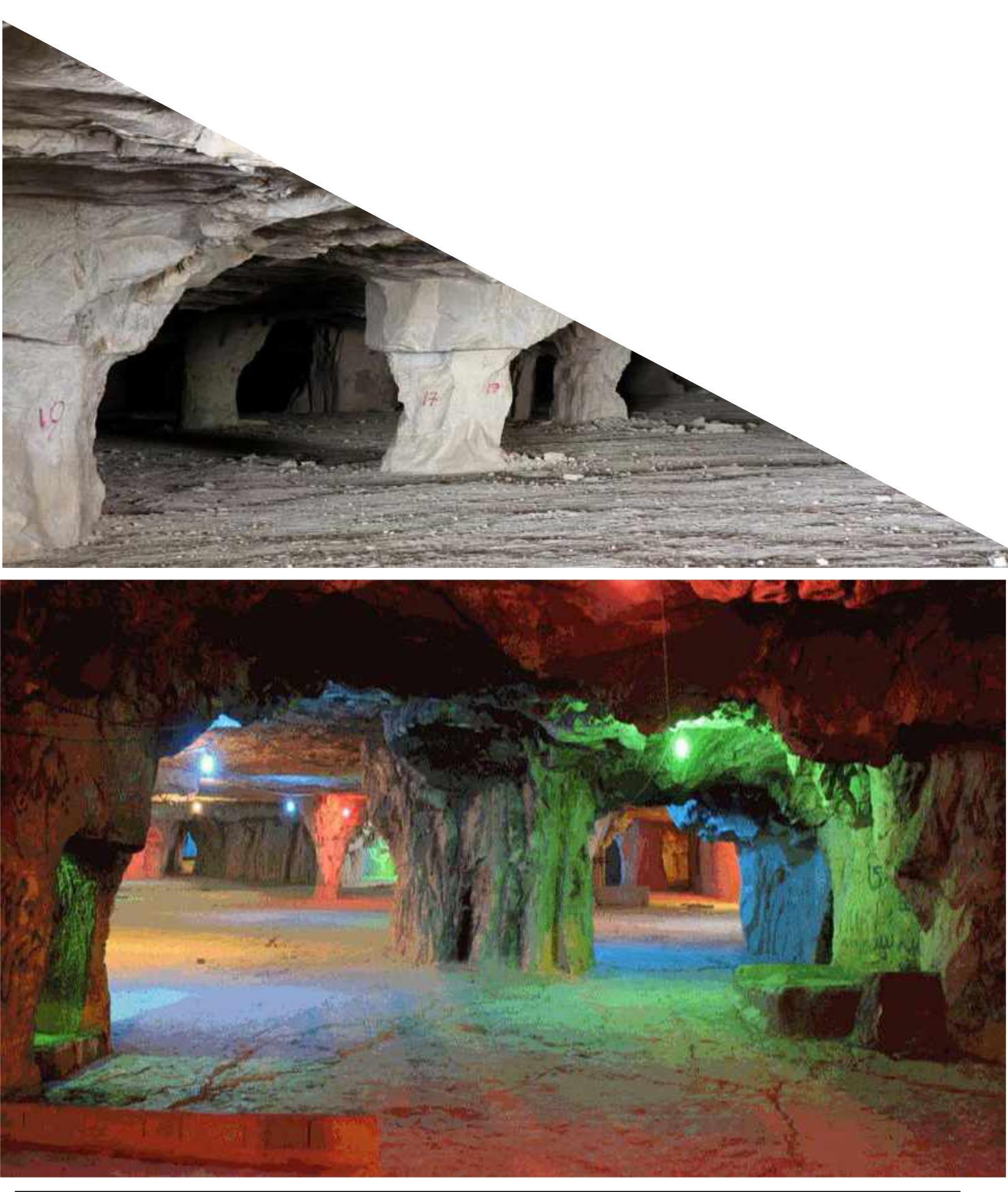 ﻏﺎر ﺳﻨﮓ ﺷﮑﻨﺎن، بزرگ ترین غار دست ساز جهان + عکس