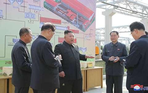 حضور رهبر کره شمالی در مراسم افتتاح یک کارخانه پس از چند هفته