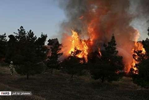 آتش سوزی محدوده ی اتوبان تهران کرج