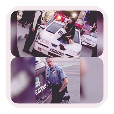 تلنگر؛ رفتار زشت افسر پلیس ایران! +عکس