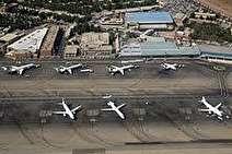 فرود اضطراری یک هواپیما در فرودگاه مهرآباد