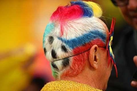 آرایش مو خاص هواداران فوتبال