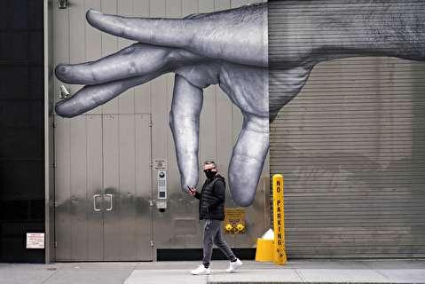 هنر خیابانی در مقابل کرونا