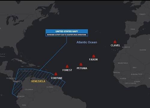 موقعیت نفتکشهای ایرانی حامل بنزین در مسیر ونزوئلا