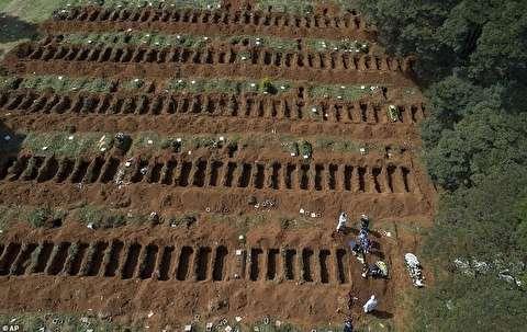 دفن فوتشدگان کرونایی در بزرگترین گورستان برزیل