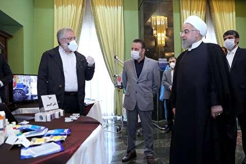بازدید روحانی از دستاوردهای مهم علمی ایرانی برای شکست کرونا