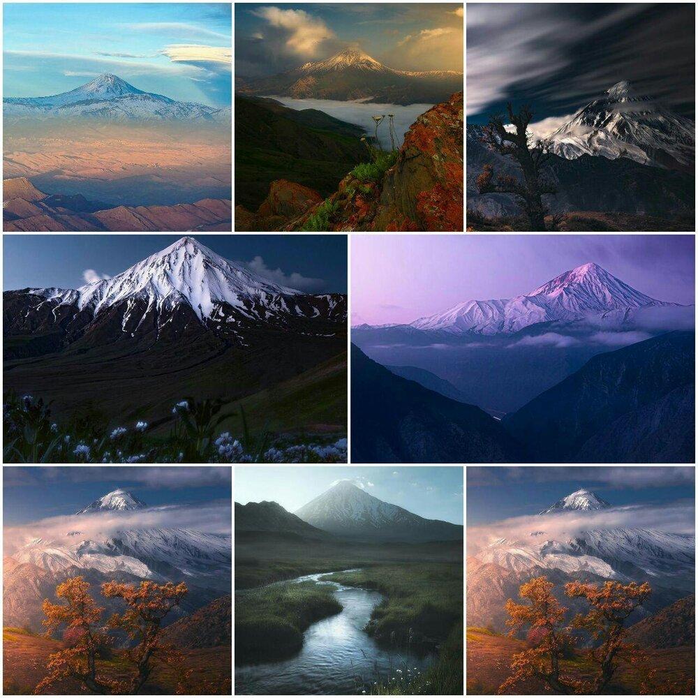 تصاویر دیدنی از قلهی دماوند
