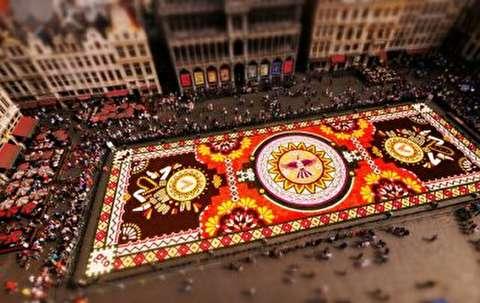 تصاویر زیبا از جشنواره فرش گل