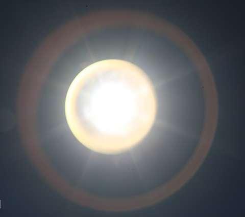 خورشید گرفتگی قرن در آسمان قزوین