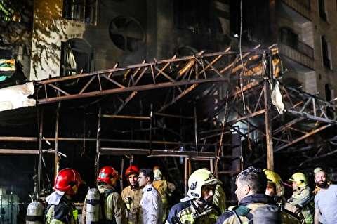 آتش سوزی و انفجار در مرکز درمانی سینا اطهر