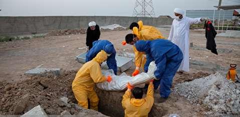 دفن قربانیان کرونا در بندر امام خمینی