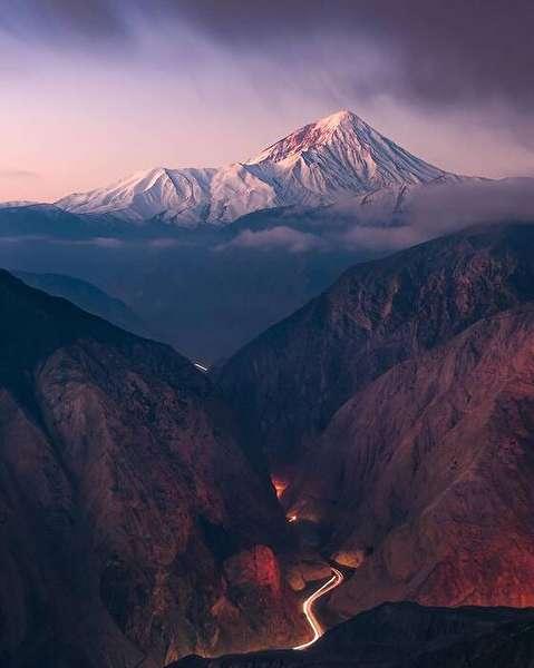 تصاویر دیدنی از قله دماوند