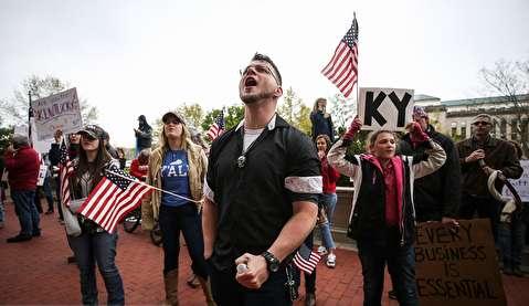 تظاهرات علیه قرنطینه در آمریکا