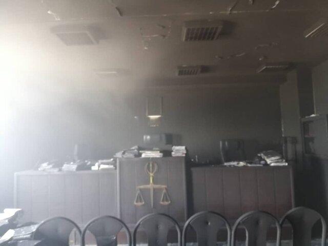 وقوع آتشسوزی در مجتمع قضایی شهید تندگویان اهواز
