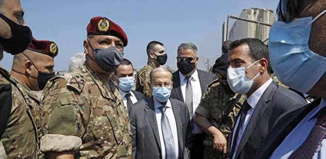 میشل عون: حادثه بیروت ممکن است با دخالت خارجی به واسط موشک یا بمب رخ داده باشد