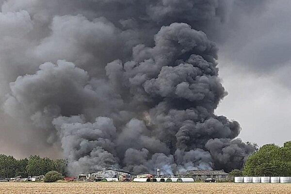 انفجار نزدیک یک فرودگاه در انگلیس