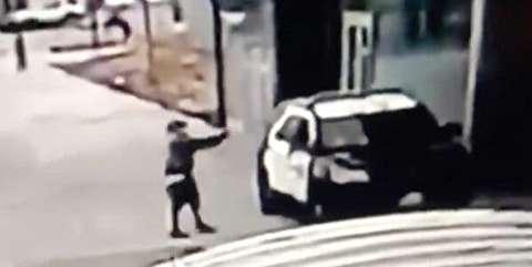 تیراندازی فرد ناشناس به دو افسر پلیس در لسآنجلس + فیلم