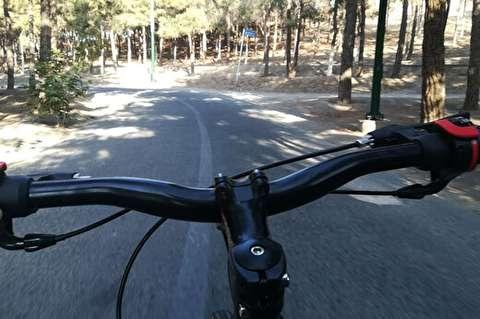 دوچرخه سواری متفاوت در جاده چالوس + فیلم