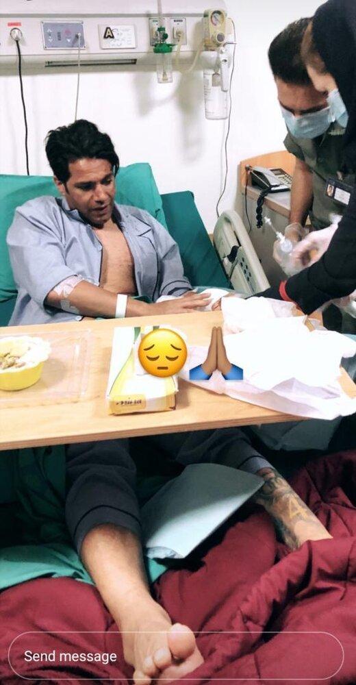 تازهترین عکس امیرحسین صادقی در بیمارستان