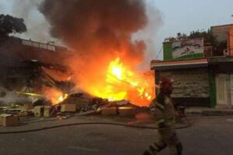 آتشسوزی وحشتناک در جایگاه سوخت+ فیلم