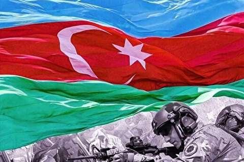 اشک شوق مجری تلویزیون در جمهوری آذربایجان در حین اعلام خبر آزادی برخی مناطق قره باغ + فیلم