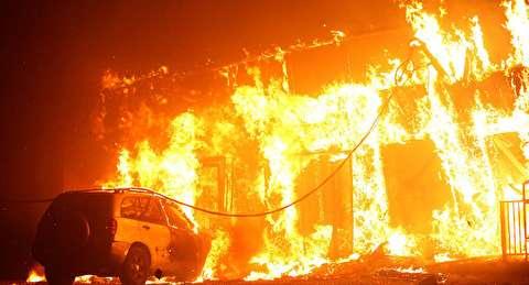 آتشسوزی مهیب در کارخانه لبنیات «میهن»+فیلم