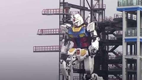 ربات گاندام ۲۴ تنی ژاپنی + فیلم